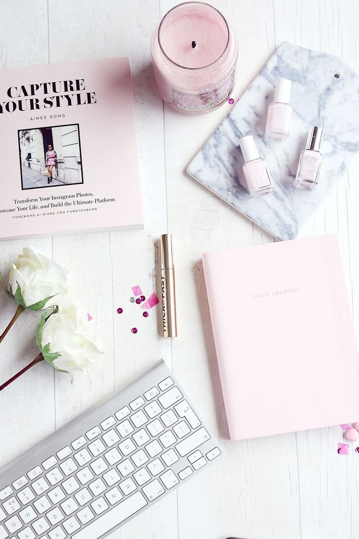 Dear Fellow Bloggers… Flatlay styling, Baby pink nails