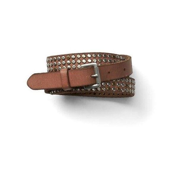 Gap Women Nailhead Stud Leather Belt ($40) ❤ liked on