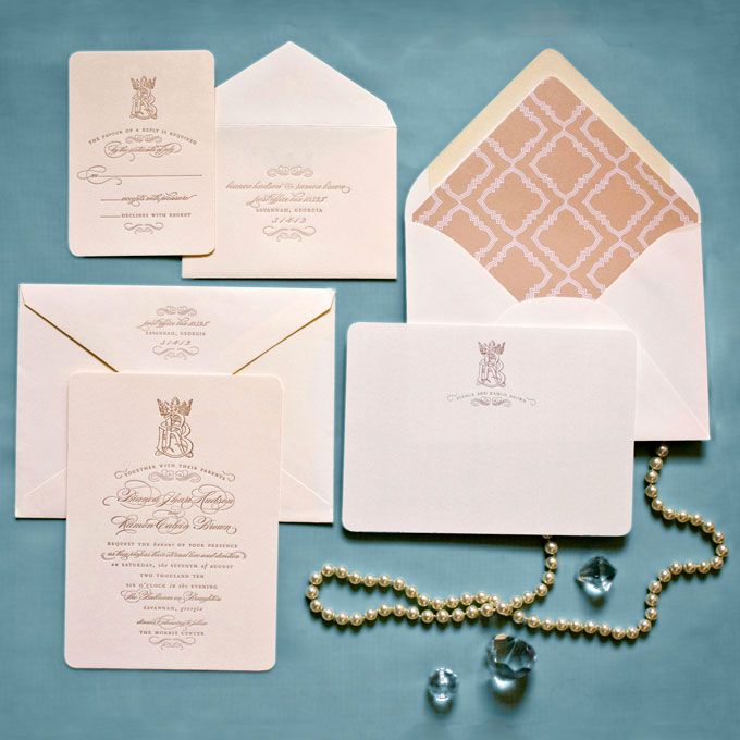 Brides: Prince William And Kate Middleton: Royal Wedding Invitations :