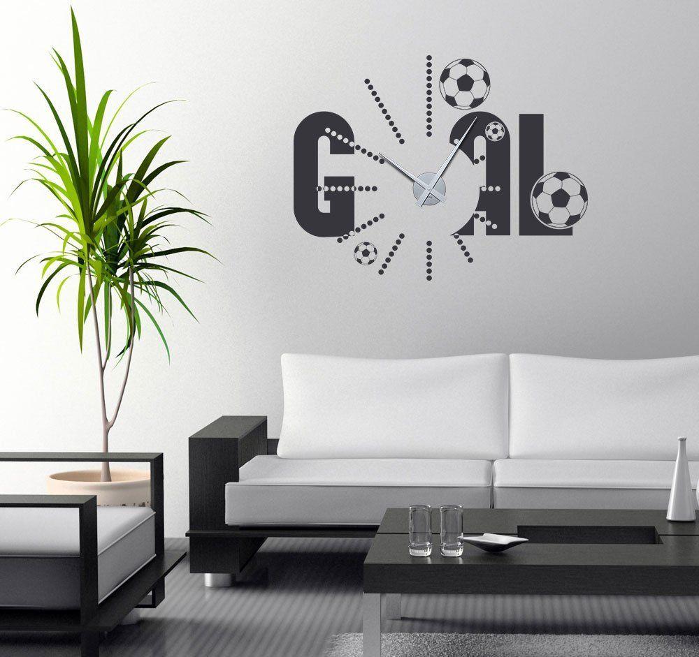 Amüsant Wandtattoo Fußball Referenz Von Tolles Detail Für Ein Fußballzimmer: Uhr Im