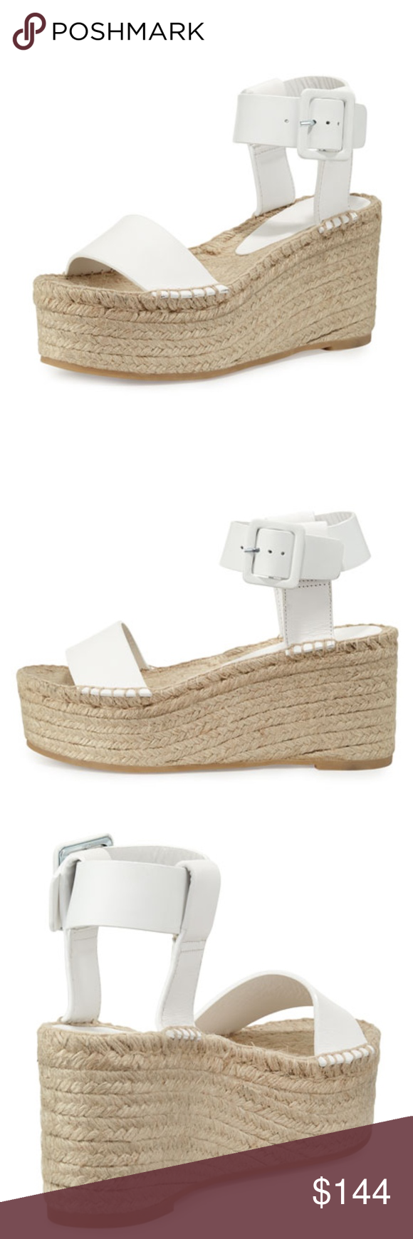 edf0c82382d VINCE ABBY LEATHER ESPADRILLE SANDAL PLASTER NEW IN BOX Size  7 Color   White DETAILS