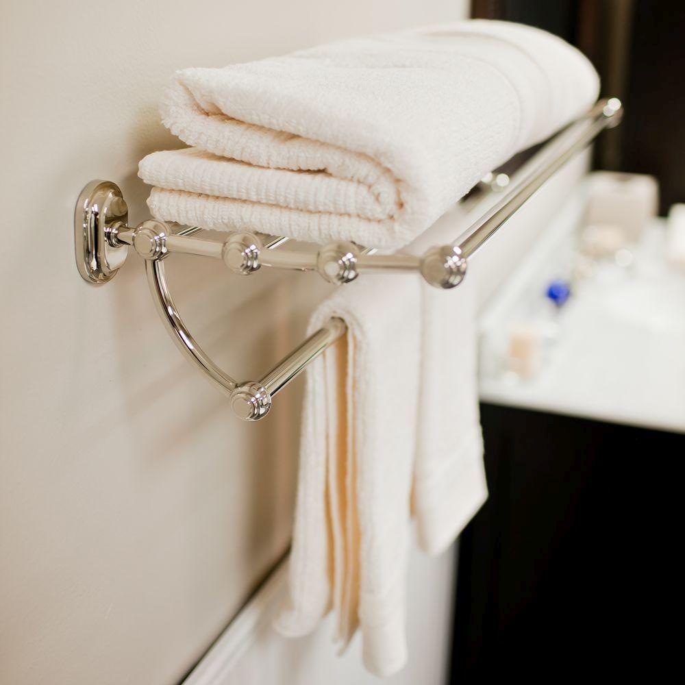 Water Creation Ba 0001 05 Universal Polished Nickel Towel Rack Shelf Bathroom Accessories Efaucets