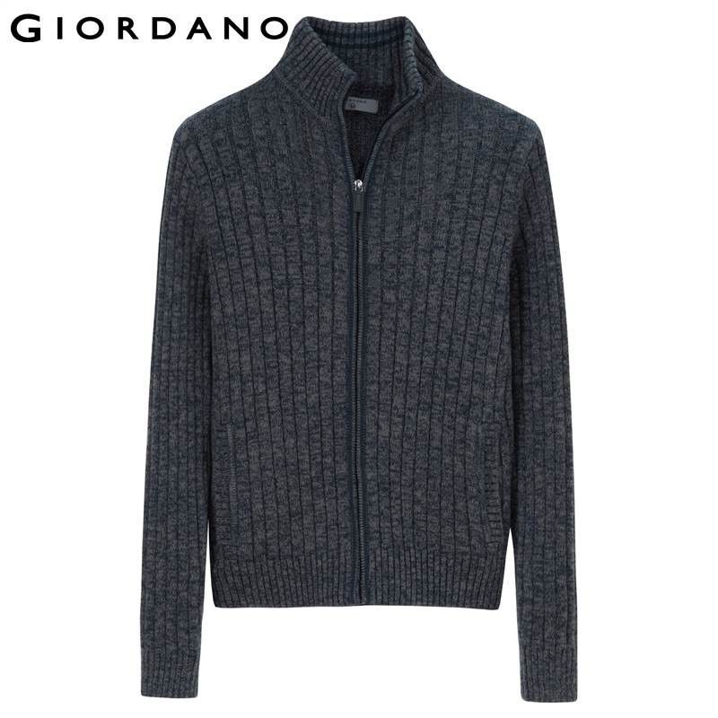 Giordano Men Sweaters Famous Brand Zipper Knitted Cardigan for Men ...
