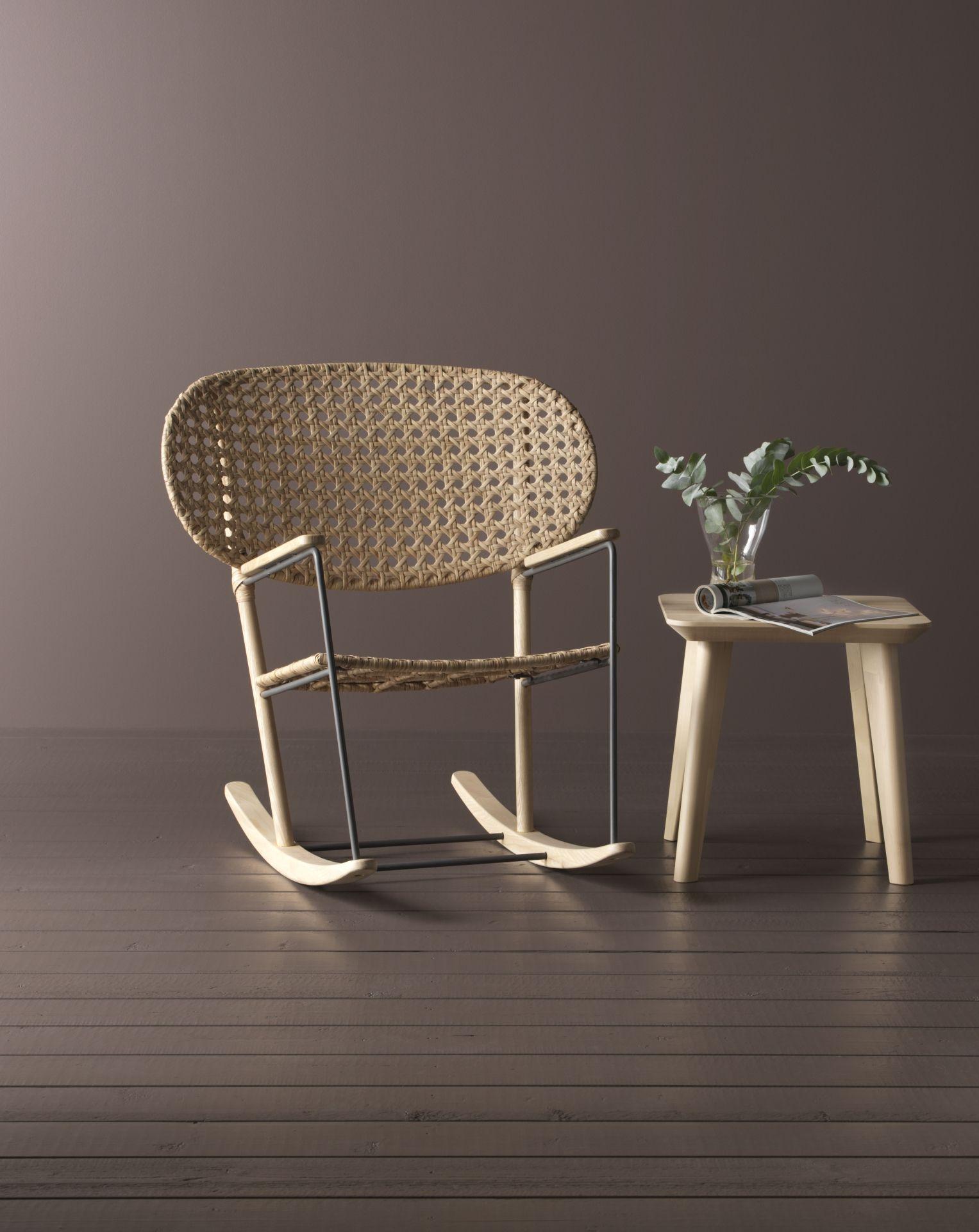 GRÖNADAL Schommelstoel, grijs, naturel | Armchairs, Ikea chairs ...