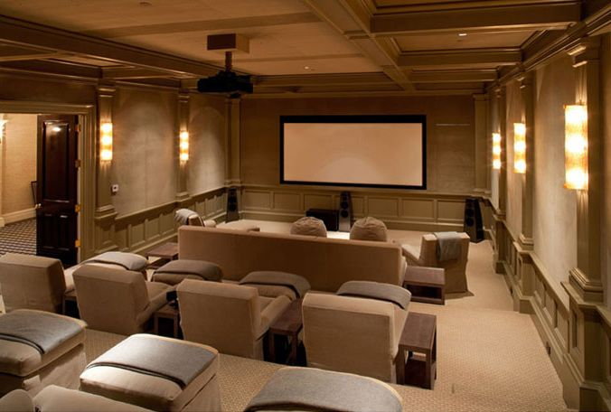 Media Room Designers Kirsten Fitzgibbons And Kelli Ford Home Cinema Room Home Theater Seating Home Theater Rooms