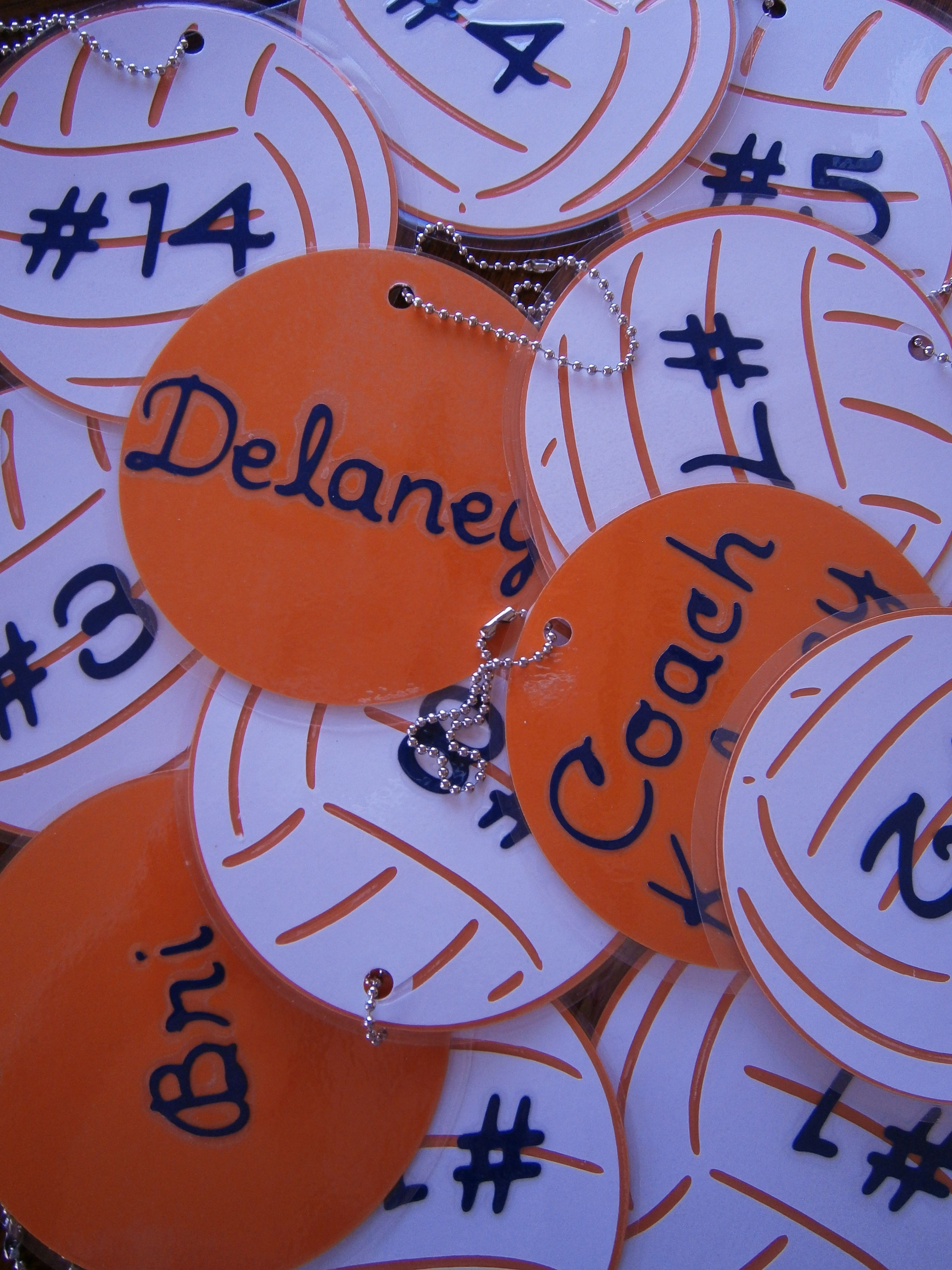 Bag Tags For The Volleyball Team Volleyball Bag Tags Volleyball Gifts Volleyball Team Gifts