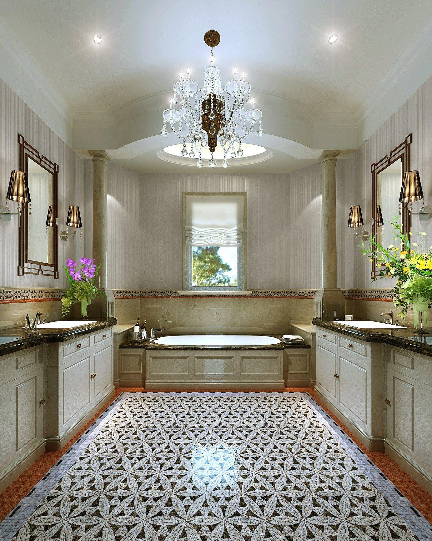 Luxus Badezimmer Duschen Marmor Fliesen Für Die Bäder Aus