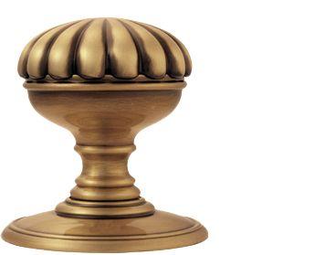 Delamain Flower Door Knobs (Concealed Fix), Florentine Bronze ...