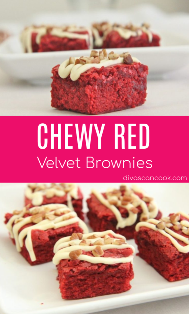 Chewy Red Velvet Brownies Recipe Recipe Brownies Recipe Homemade Red Velvet Brownies Recipe Brownie Recipes