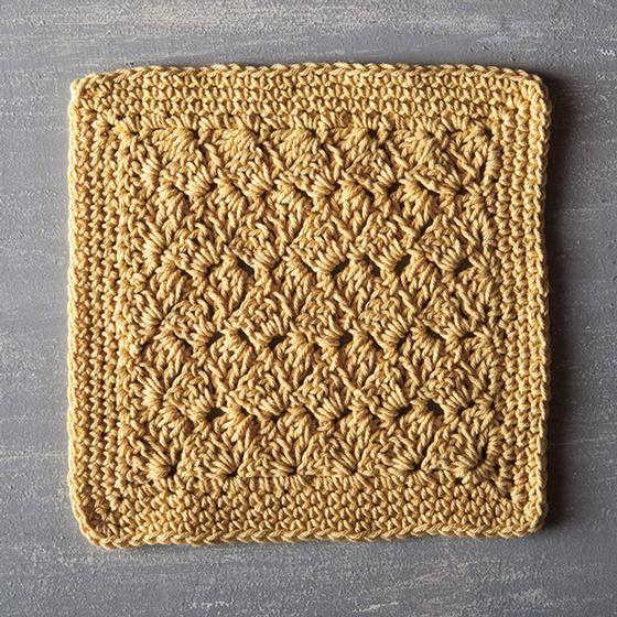 Custard Pie Crochet Dishcloth - download the pattern free at http ...