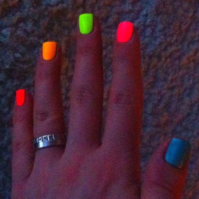 nail painting during party (ALWAYS use white FIRST to make the color POP!)