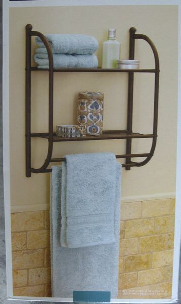 bronze towel racks | towels, shelves and walls