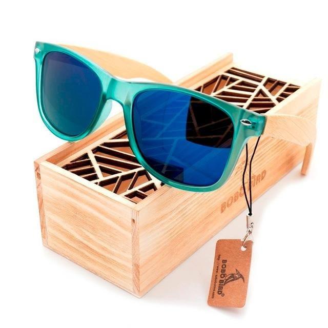 04b23b4f003 BOBO BIRD Luxury Polarized Sunglasses for Men and Women Bamboo Wood Holder Sun  Glasses With