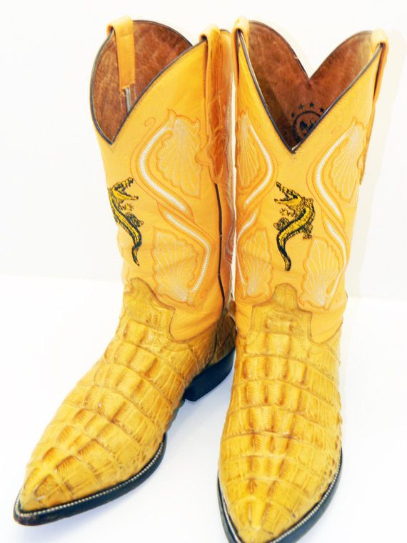 Men S El General Alligator Cowboy Boots By Rubesrelics On Etsy