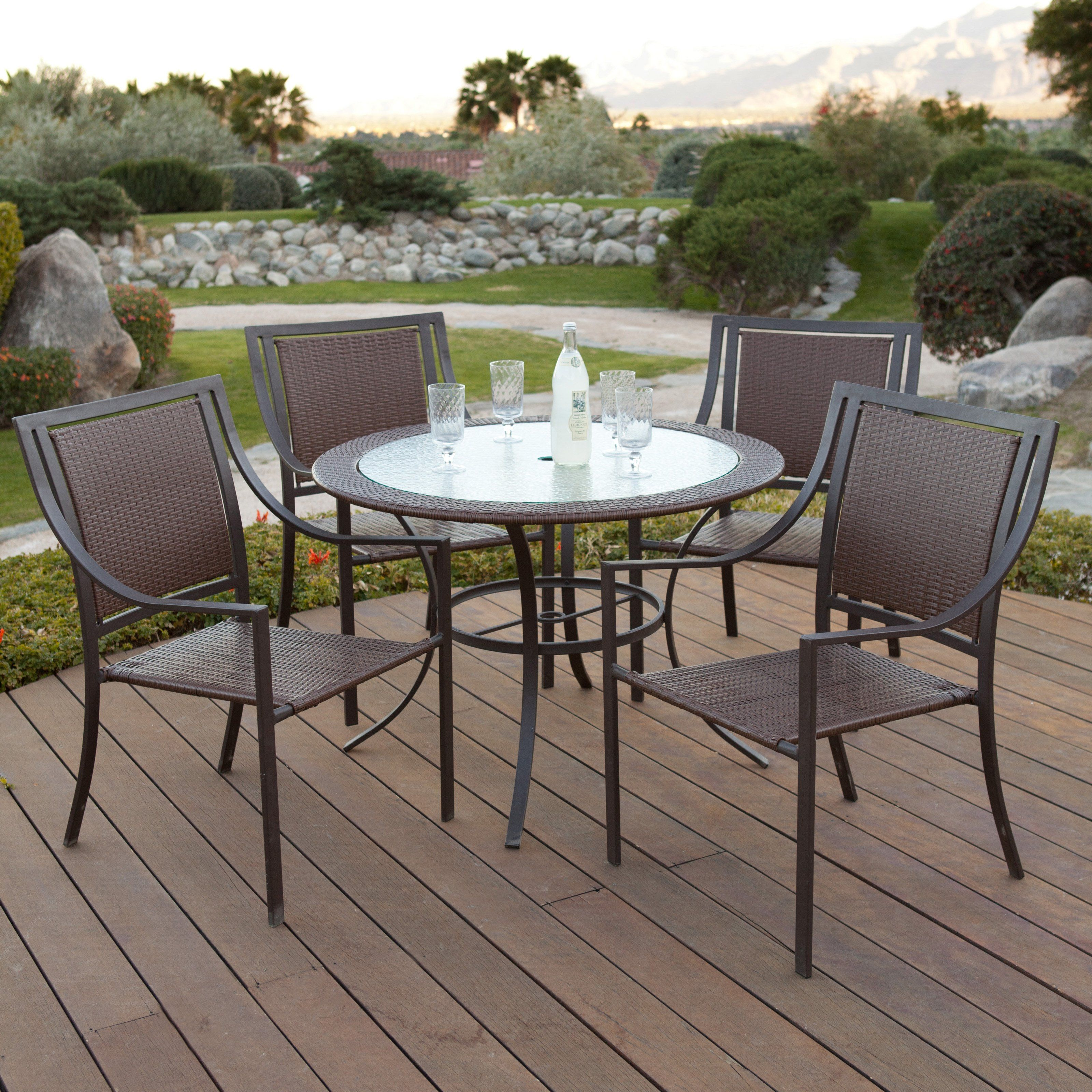 This Is The Outdoor Dining Set We Got To Go On Our Deck We Also