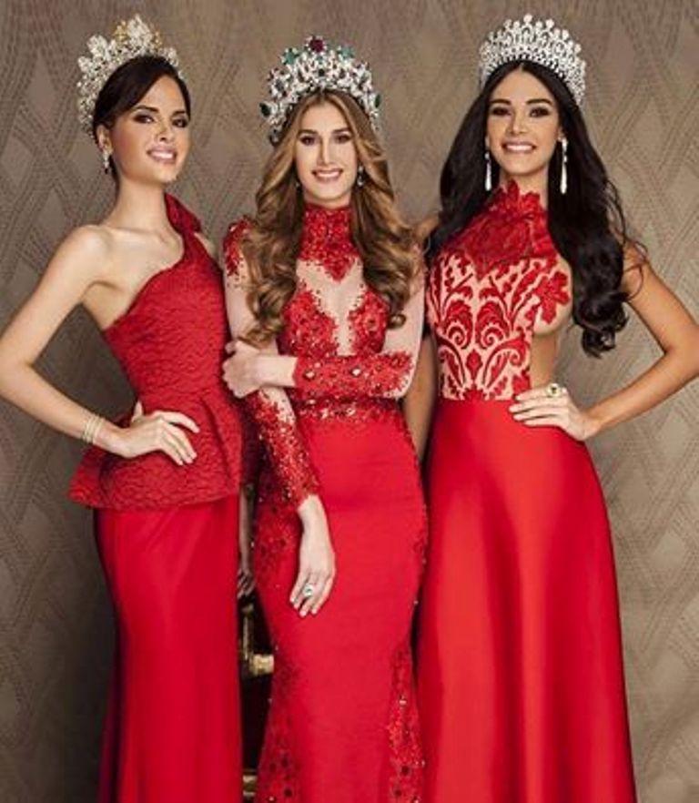 Las Mas Bellas del Miss Venezuela 2015.. Marina Habach, Andrea Rosales y Jessica Duarte..