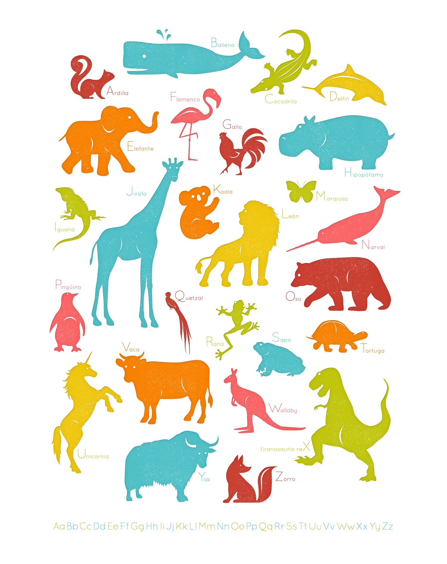 My Spanish Animal Alphabet Poster Can T Wait To Print It