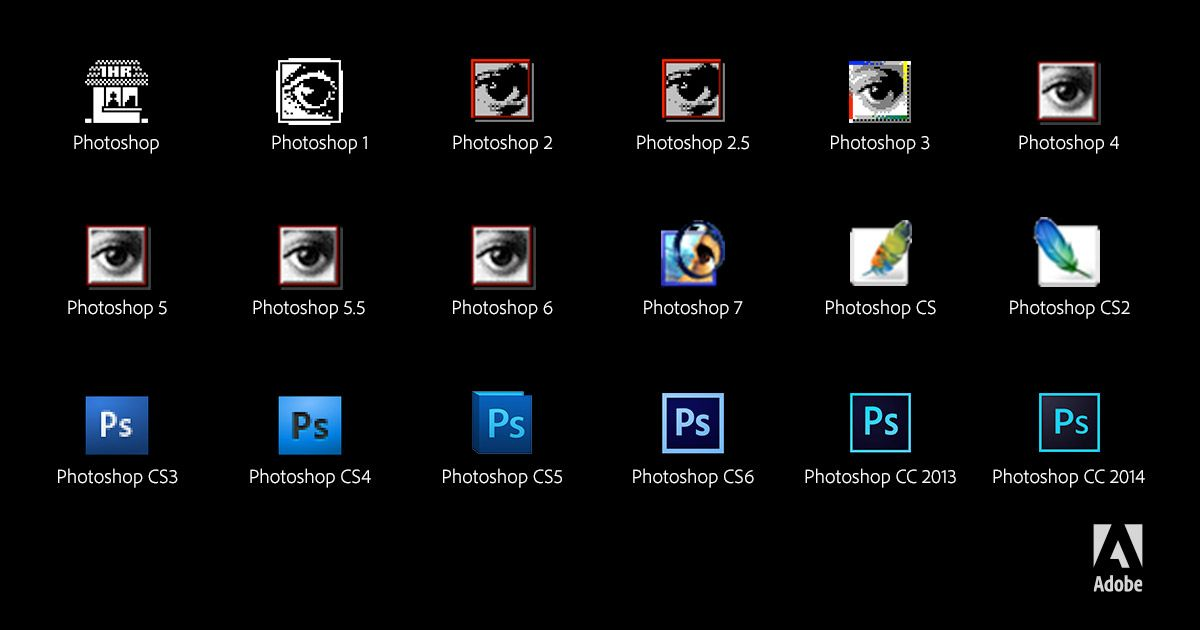 A look at the photoshop icon over the past 25 years photoshop25 a look at the photoshop icon over the past 25 years photoshop25 sciox Images