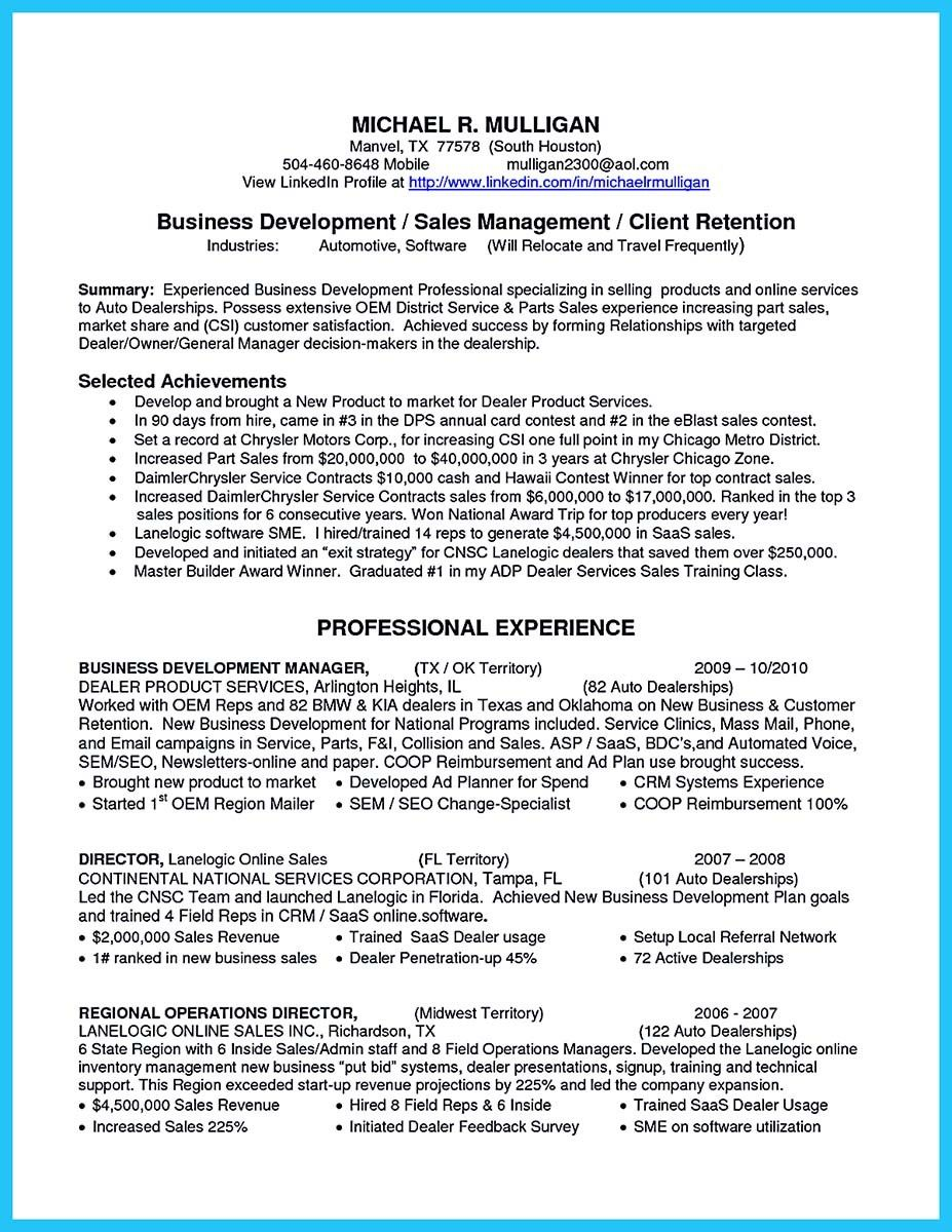 nice writing a clear auto sales resume resume template