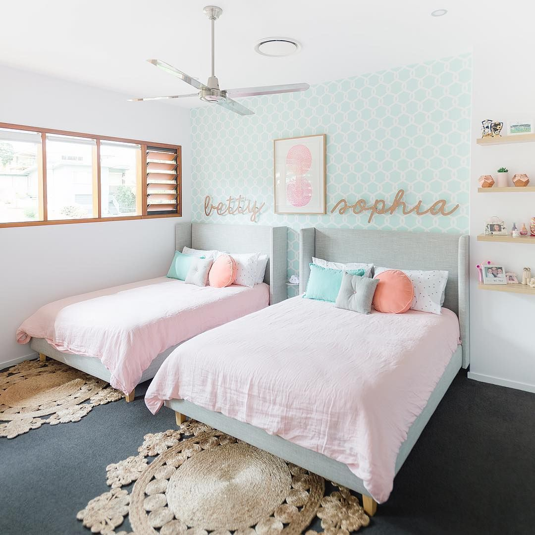 Twin Kids Room: Twins Betty + Sophia Were Lucky Enough To Receive A
