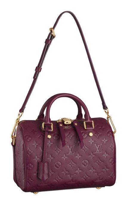 Louis vuitton  Speedy Monogram Empreinte . love the color ... 9cec11b08f216