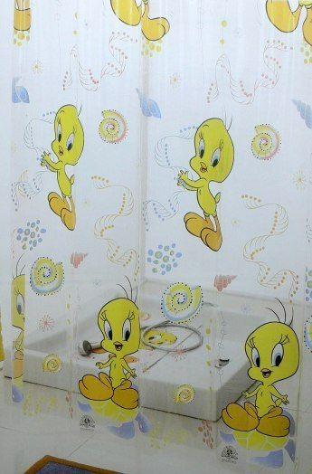 Tweety Pie Pvc Cartoon Shower Curtain Cute The Twenties Looney Tunes