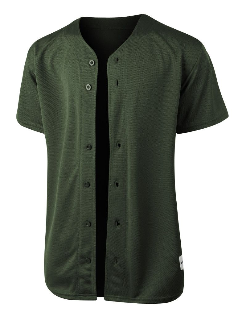 7819c59b8 Gear up for baseball season in this full button down mesh short sleeve  baseball jersey. Its perfect for outdoors activities or weekend getaways.