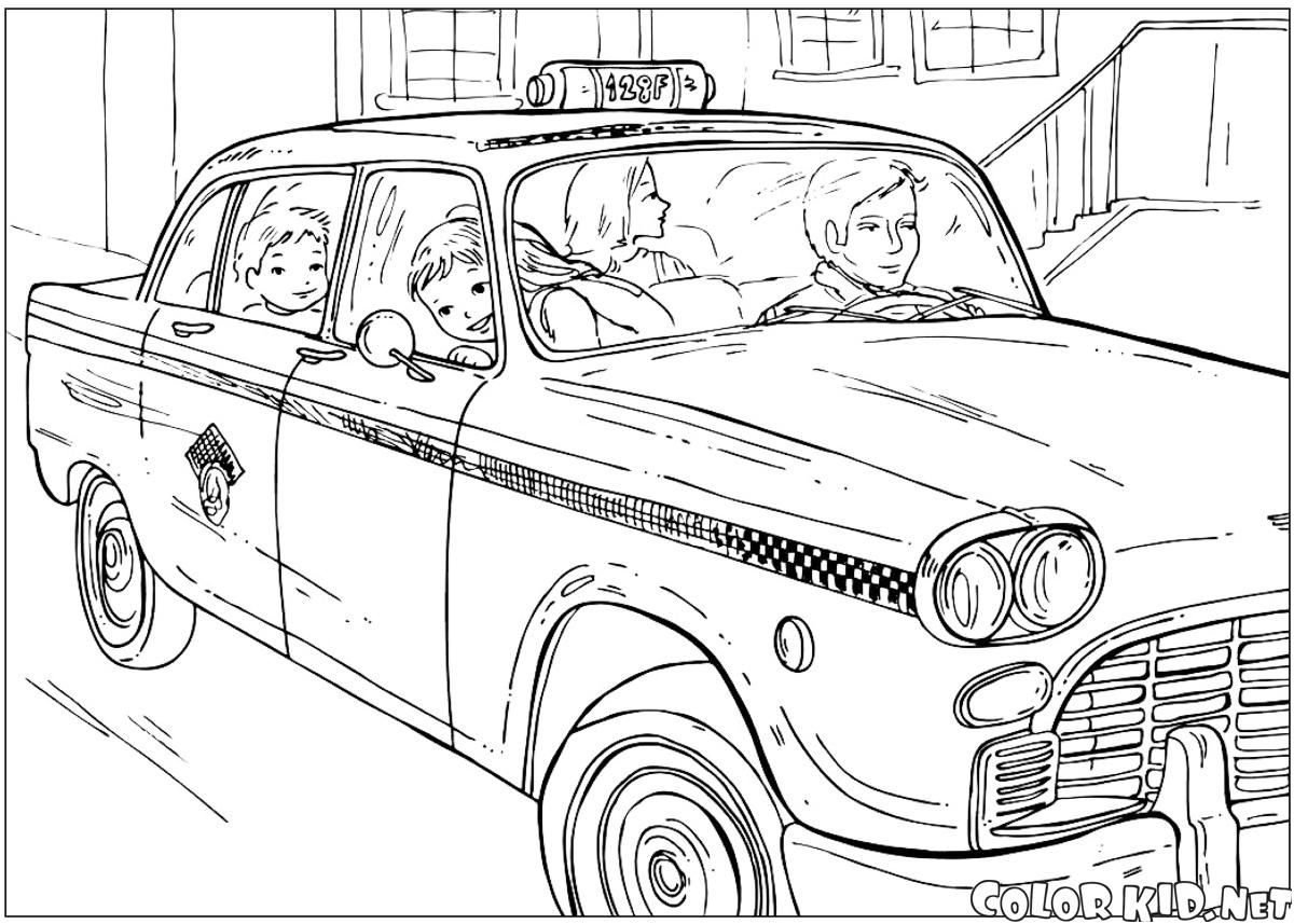 32 Localement Coloriage Taxi Images