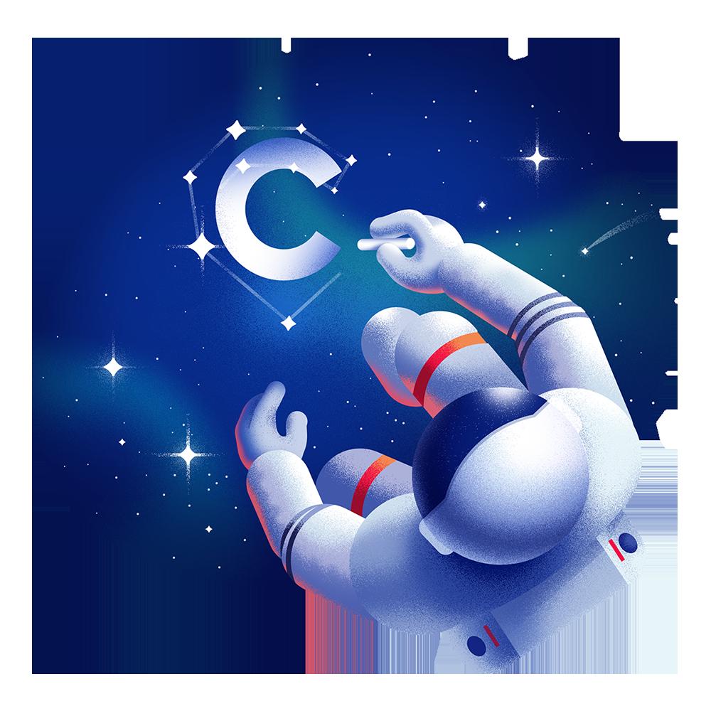 Space illustrations Ana Miminoshvili Space