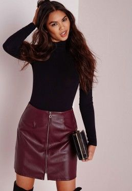 685c42fc3 Black Ripped A Line Denim Micro Mini Skirt | Style | Leather a line ...