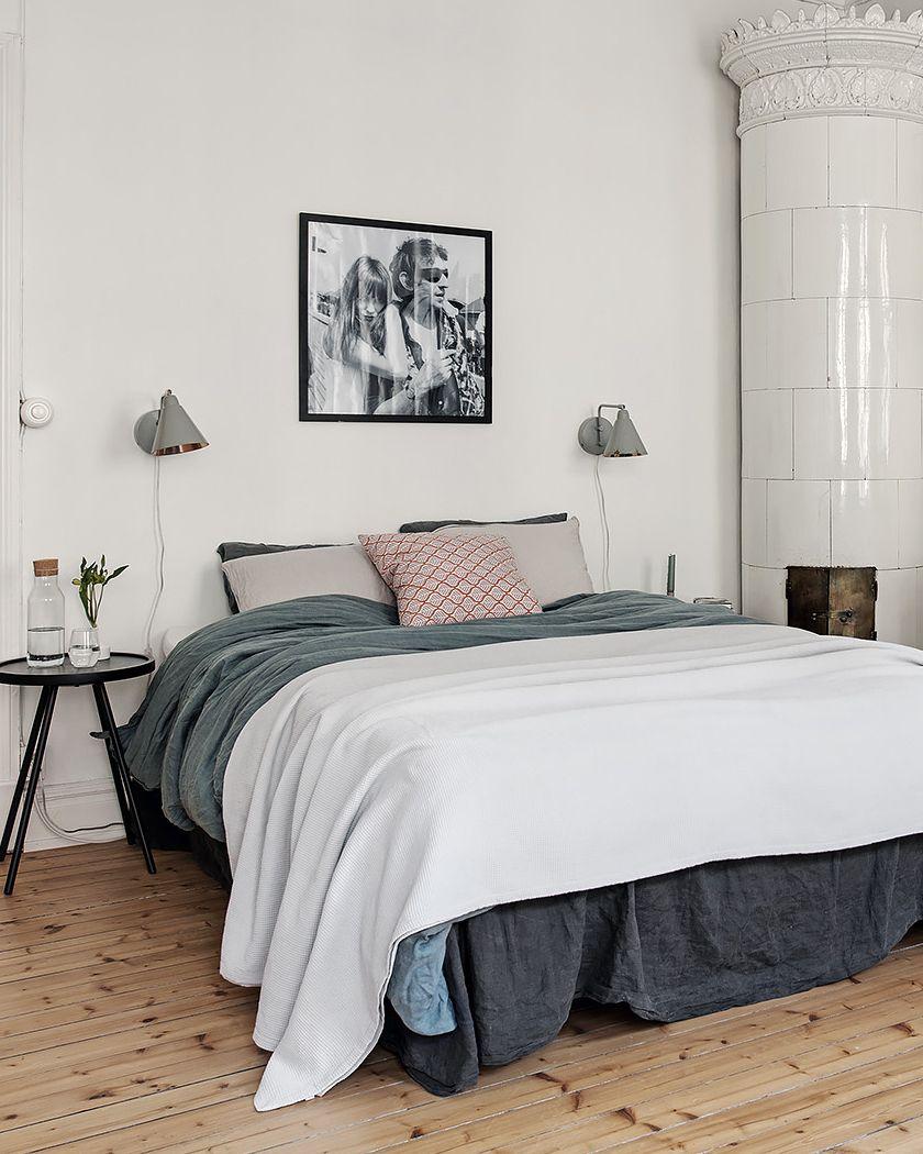 deco chambre blanc bois parquet  Deco chambre, Deco chambre