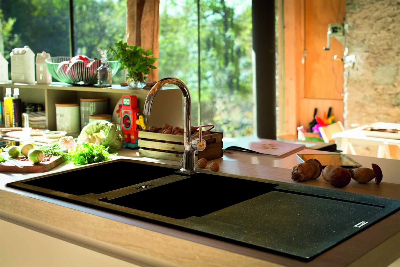 The New Franke Fragranite Sink Range Sink Double Sink Modern Black Kitchen