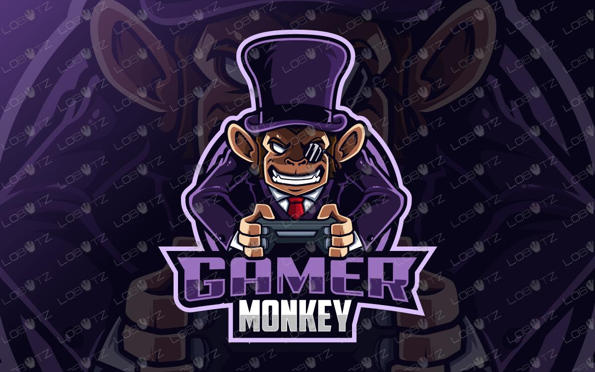 Gamer Monkey Mascot Logo Gamer Monkey eSports Logo Gaming
