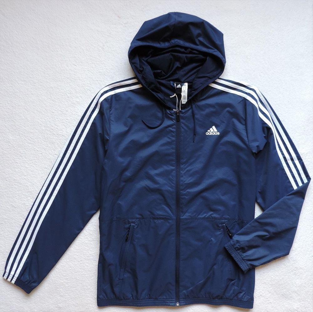381ef74b80a33 adidas Mens Essentials Wind Jacket, Collegiate Navy/White, Size: M ...