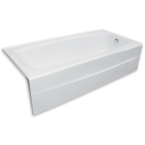 Nice View Spectra 66 Inch By 32 Inch Integral Apron Cast Iron Bathtub Shown In  White (