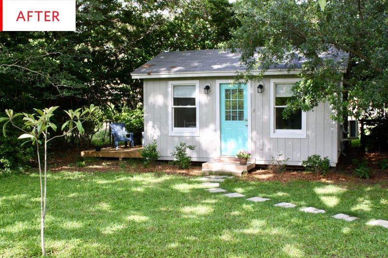 Before and After This Backyard Shed Turned Tiny House for