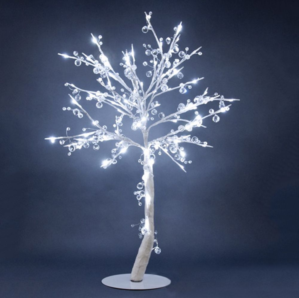 Floral Lights Lighted Crystal Tree With 96 Led Lights 384 Crystals Indoor Only 34 Inch H A Crystal Tree Potted Christmas Trees Holiday Lights