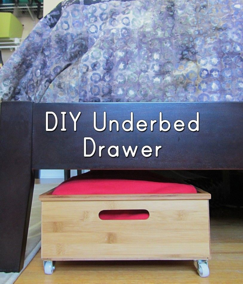 Under Bed Storage Diy Underbed Drawers Under Bed