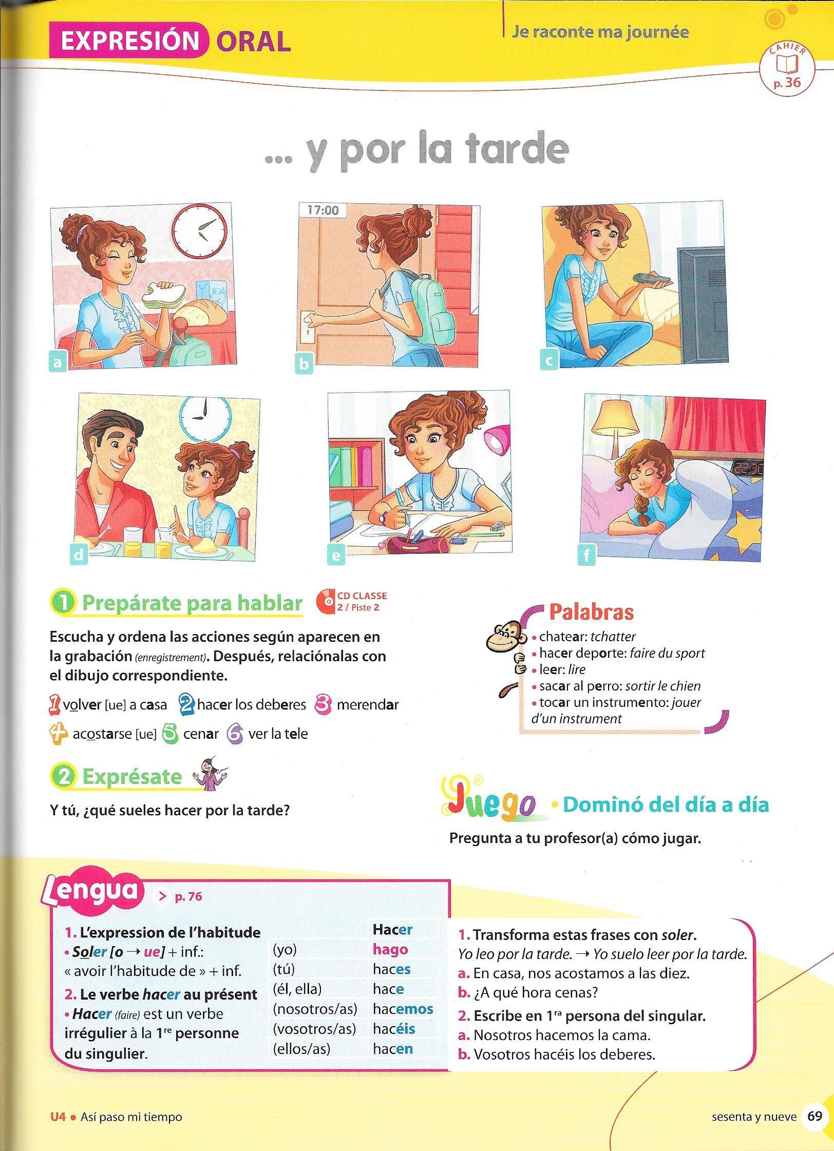 Animate 6e Espagnol Apprendre Vocabulaire Espagnol Lecon Espagnol