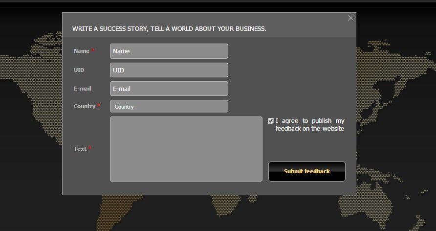 ¡Se ha creado una nueva página de testimonios en un nuevo formato! Descubra lo que piensan otros clientes sobre la compañía.