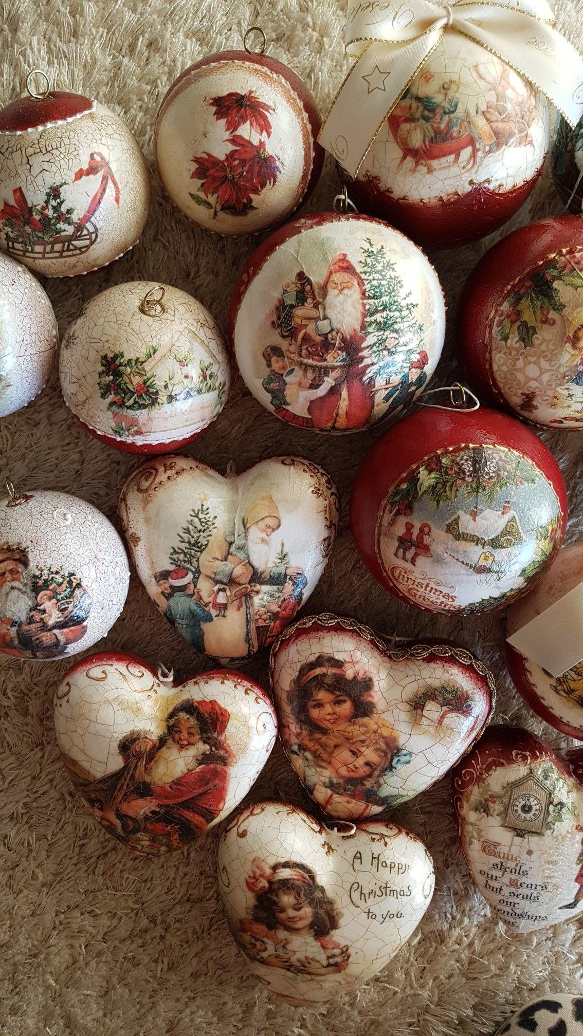 Palline natalizie   Самодельные рождественские украшения ...
