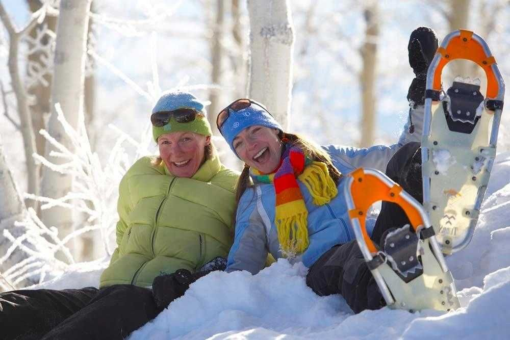 Not only is snowshoeing a great way to get outdoors, it's