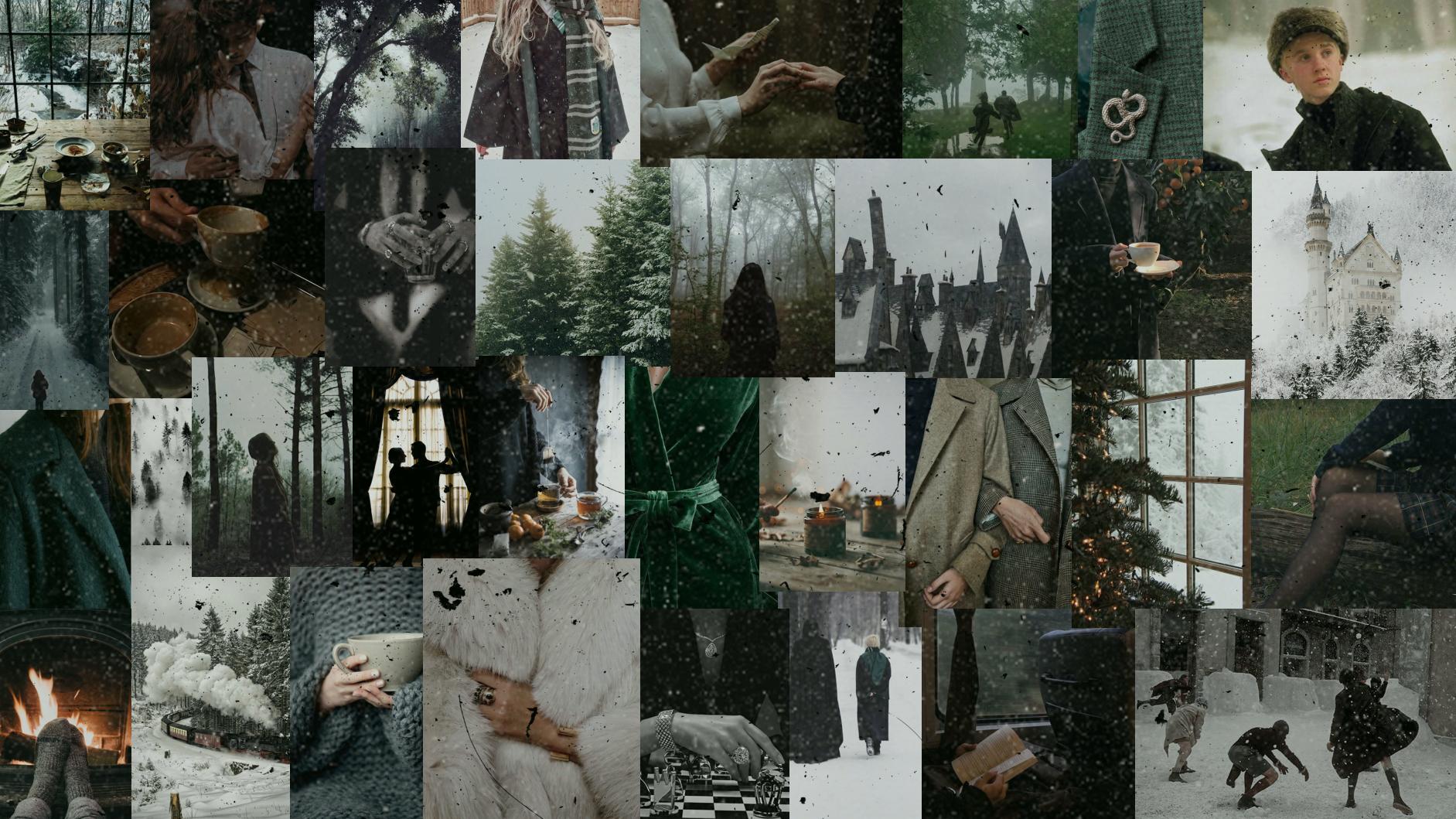 Slytherin Winter Desktop Wallpaper Desktop Wallpaper Harry Potter Slytherin Wallpaper Wallpaper