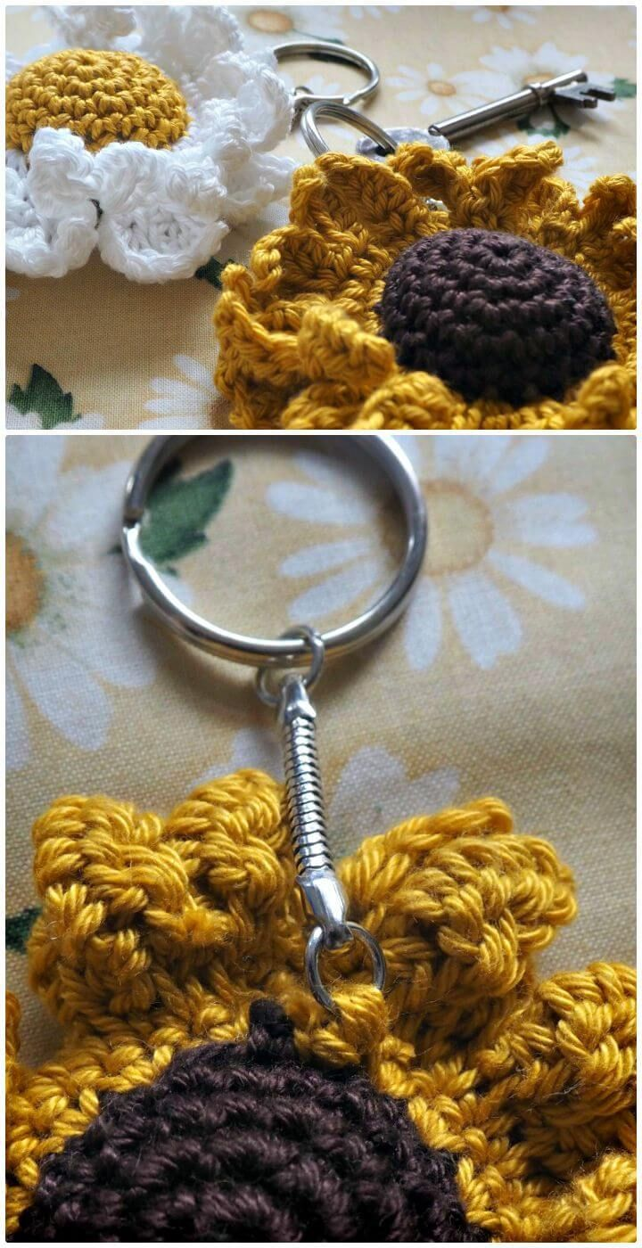 Sunflower Key Keeper Crochet pattern by betsymakes ...