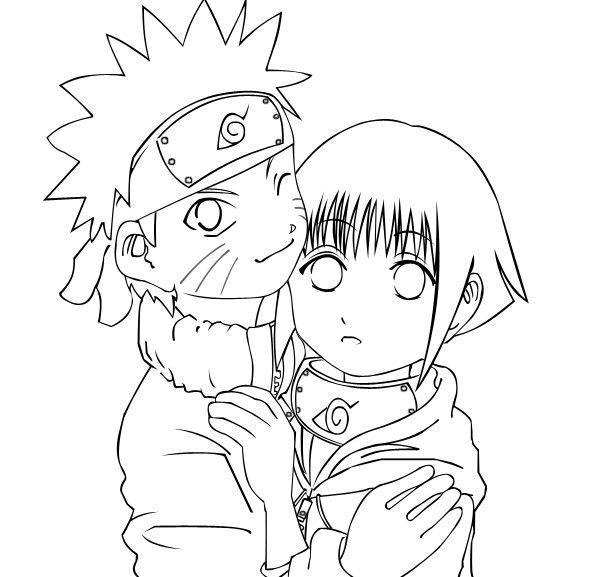 Naruto and Hinata Coloring Pages Cartoon Coloring Pages