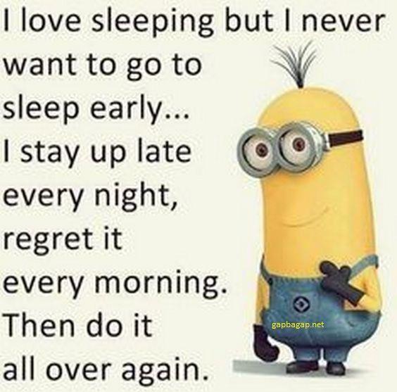#Funny #Minion #Jokes About Sleeps…