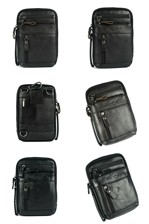 Visit to Buy  Genuine leather small messenger bags for men crossbody  shoulder bag ipad mini handbags cowhide chest packs man shoulder bag 8a965330b6029