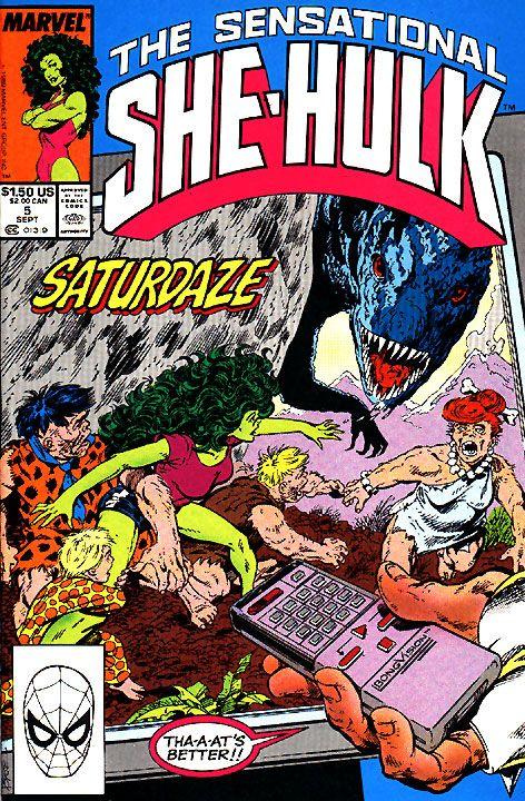 Byrne Robotics: JBF Reading club : The sensational She-Hulk # 5