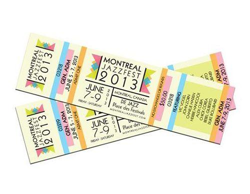 Colourful Montreal Jazzfest ticket design | Ticket design ...