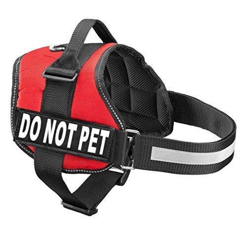 Service Dog Vest Harness With 2 Reflective Do Not Pet Patches